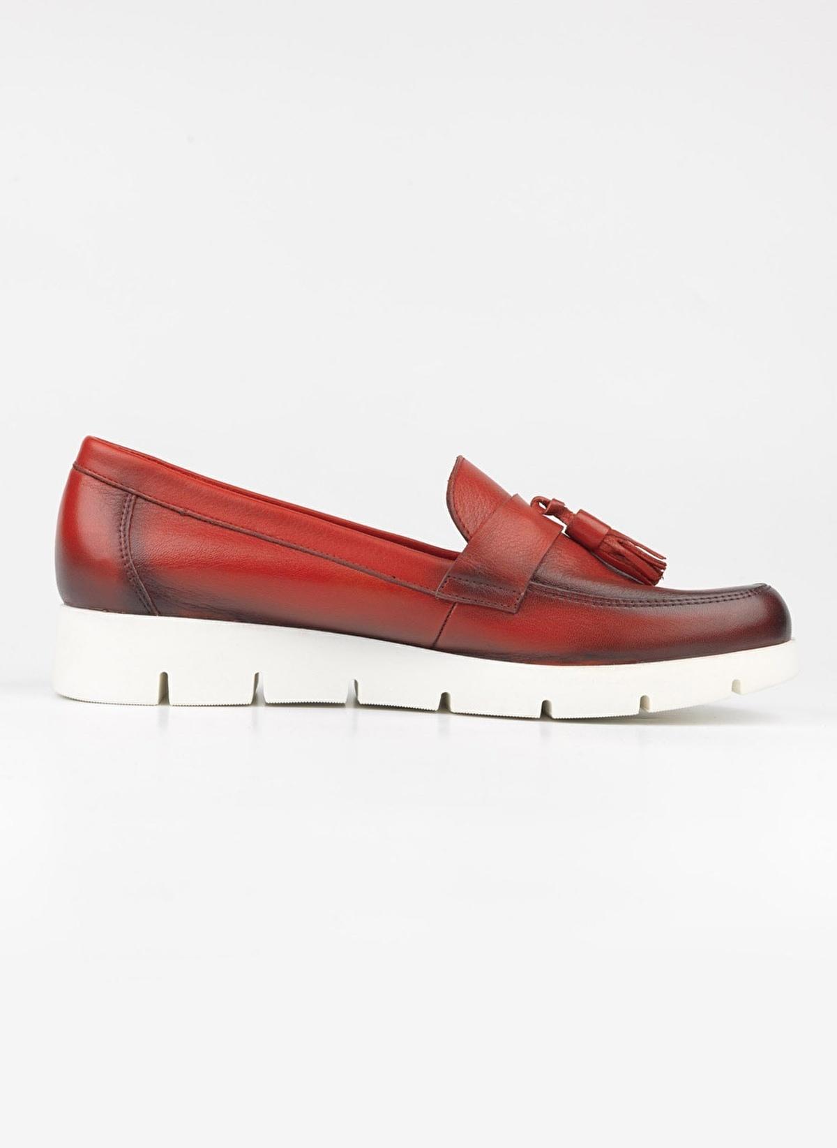 7d36324d3e13c Riccardo Colli Kadın Hakiki Deri Ayakkabı 823-25-Dnp/ Kırmızı ...